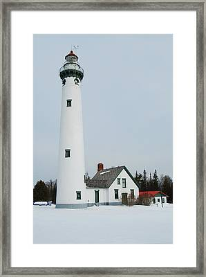 Presque Isle Lighthouse Framed Print by Michael Peychich