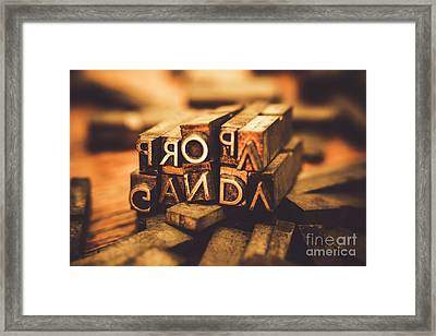 Press Of Propaganda Framed Print by Jorgo Photography - Wall Art Gallery