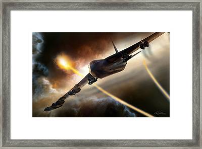 Press On To Target Framed Print by Peter Chilelli