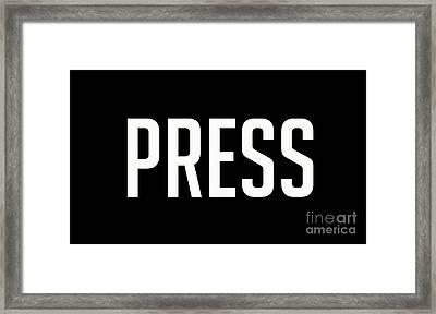 Press Tee Framed Print by Edward Fielding