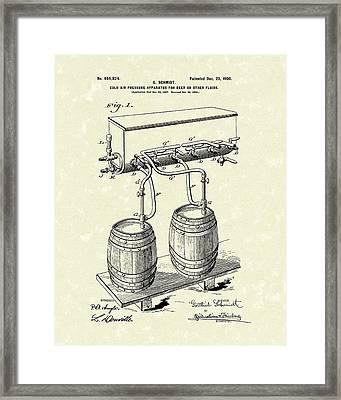 Pressure System 1900 Patent Art  Framed Print by Prior Art Design