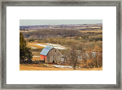 Preston, Mn Barn Framed Print by Dan Traun