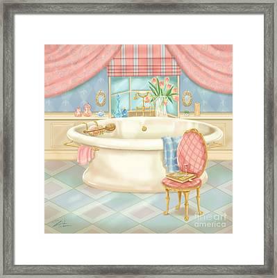 Pretty Bathrooms II Framed Print by Shari Warren