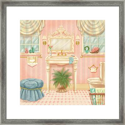 Pretty Bathrooms IIi Framed Print by Shari Warren