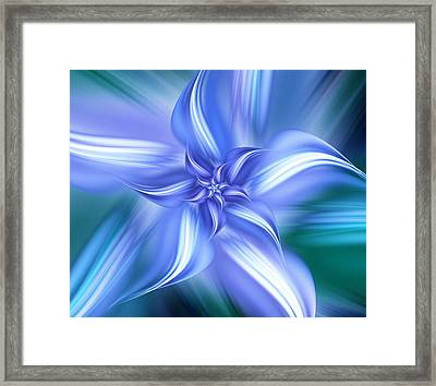 Pretty Blue Flower Framed Print by Anastasiya Malakhova