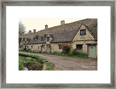 Pretty Cottages All In A Row Framed Print by Jasna Buncic