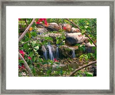 Pretty Garden View Framed Print by Yali Shi