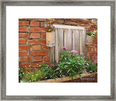Pretty Garden Wall Framed Print by Yali Shi