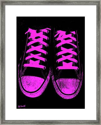 Pretty In Pink Framed Print by Ed Smith