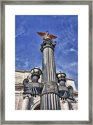 Pretty Lamp Post In Washington Dc Framed Print by Val Black Russian Tourchin