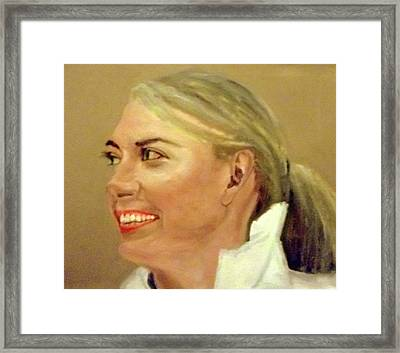 Pretty Maria Framed Print by Peter Gartner
