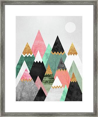 Pretty Mountains Framed Print by Elisabeth Fredriksson