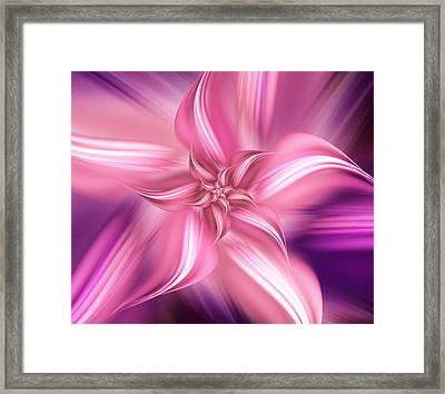 Pretty Pink Flower Framed Print by Anastasiya Malakhova