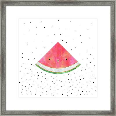 Pretty Watermelon Framed Print by Elisabeth Fredriksson