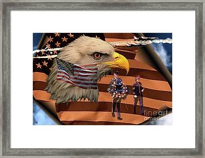 Price Of Freedom Framed Print by Ken Frischkorn
