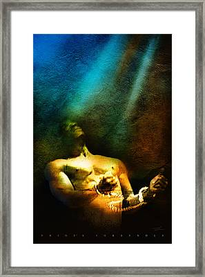 Pride's Surrender Framed Print by Shevon Johnson
