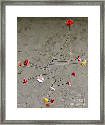 Primary Blossoms Framed Print by Mattie O