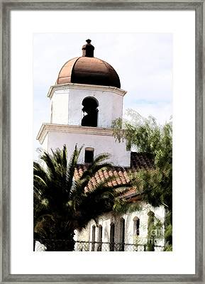 Primera Iglesia Bautista Framed Print by Linda Shafer