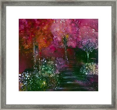 Primrose Painting Framed Print by Don  Wright