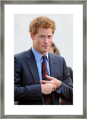 Prince Harry At A Public Appearance Framed Print by Everett