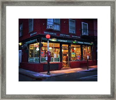 Prince Postale - Boston North End Framed Print by Joann Vitali