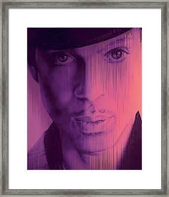 Prince - Purple Rain Framed Print by Lori Seaman