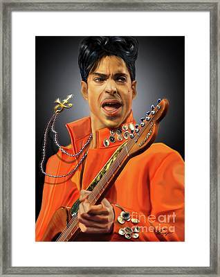 Prince  Framed Print by Reggie Duffie