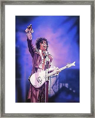 Prince The Legend Framed Print by Joshua Jacobs