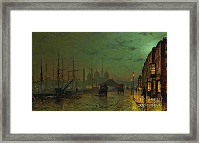 Prince's Dock Hull Framed Print by John Atkinson Grimshaw