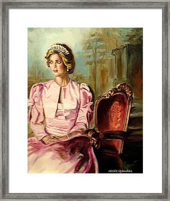 Princess Diana The Peoples Princess Framed Print by Carole Spandau