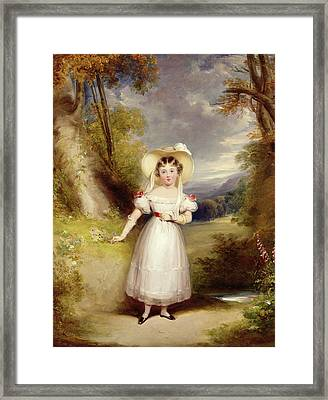 Princess Victoria Aged Nine Framed Print by Stephen Catterson the Elder Smith
