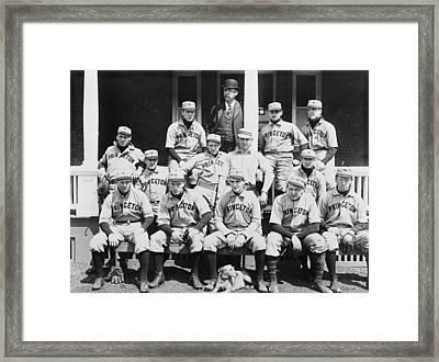 Princeton Baseball Team Framed Print by American School