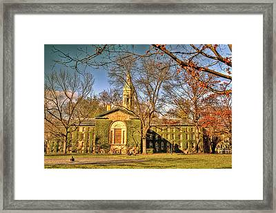 Princeton University Ivy Covered Building Framed Print by Geraldine Scull