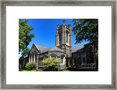 Princeton United Methodist Church    Framed Print by Olivier Le Queinec