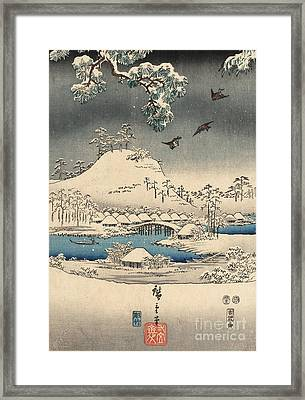 Print From The Tale Of Genji Framed Print by Hiroshige