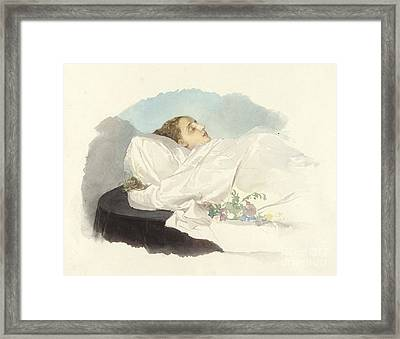Prinzessin Von Bourbon Sizilien Framed Print by Maria Annunziata