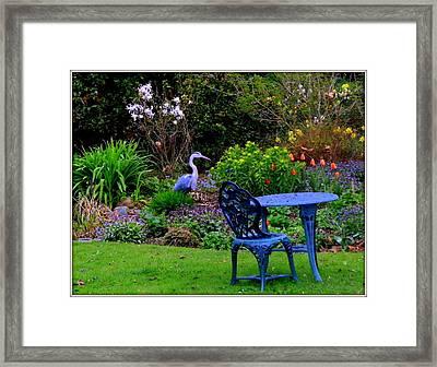 Priscillas English Garden Framed Print by Mindy Newman