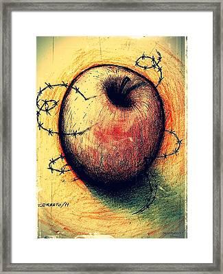 Prison Of Human Desire Framed Print by Paulo Zerbato