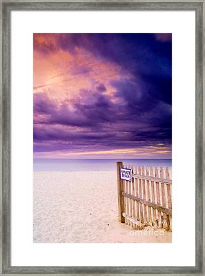 Private Beach Cape Cod Framed Print by Matt Suess