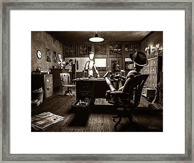 Private Detective Framed Print by Bob Orsillo