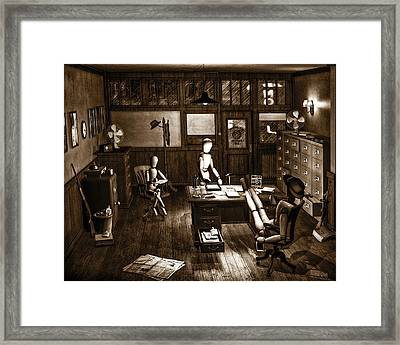 Private Eye Framed Print by Bob Orsillo