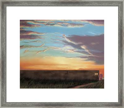 Private Sunrise.  Keep Out Framed Print by Albert Puskaric