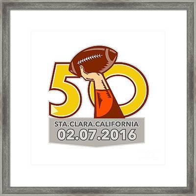 Pro Football Championship 50 2016 Framed Print by Aloysius Patrimonio