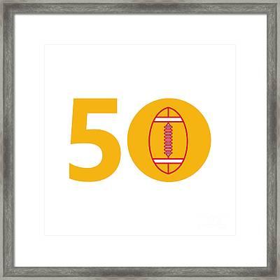 Pro Football Championship 50 Ball Framed Print by Aloysius Patrimonio