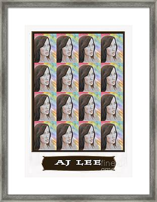 Pro Wrestling Superstar Aj Lee Framed Print by Jim Fitzpatrick
