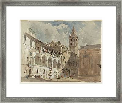 Probably At Genoa Framed Print by William Parrott