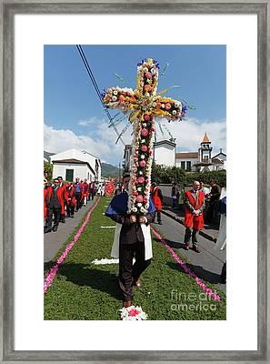Procession In Furnas - Azores Framed Print by Gaspar Avila