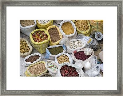 Produce Of India Framed Print by Tim Gainey