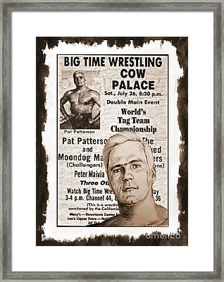 Professional Wrestling Legend Pat Patterson  Framed Print by Jim Fitzpatrick