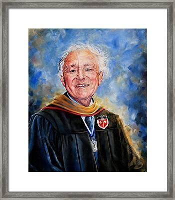 Professor Portrait Commission Framed Print by Hanne Lore Koehler